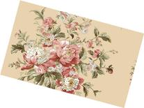 Waverly 5513112 Garden Rose, Green and Taupe Peonie Floral