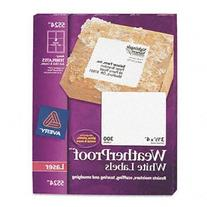 Avery 5524 Weatherproof laser shipping labels, 3-1/3 x 4,