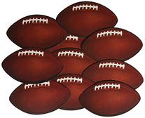 Beistle 57079 10-Pack Miniature Football Cutouts for Parties