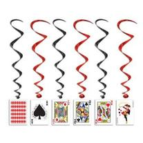 Beistle 57829 5-Pack Playing Card Whirls, 3-Feet 4-Inch