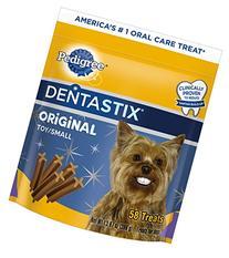 PEDIGREE DENTASTIX Toy/Small Dog Chew Treats, Original, 58