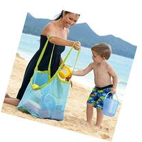 BeeSpring Extra Large Family Mesh Beach Bag Tote Backpack