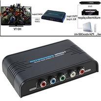 AGPtek® 5RCA Component Audio Video YPbPr To HDMI Converter