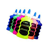 6 Color Glitter Glue Set  NEON Colors - Pink, Green, Blue,