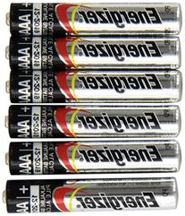 Energizer 6 NEW AAAA Batteries