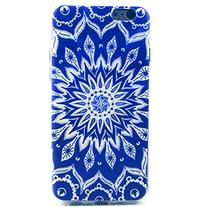 6 Case, iPhone 6 Case LUOLNH Blue Sunflower Pattern Clear