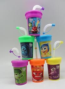 6 Disney Inside Out Stickers Birthday Sipper Cups with lids