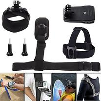 Luxebell 6 in 1 Accessories Kit for Gopro Hero4 Silver/black