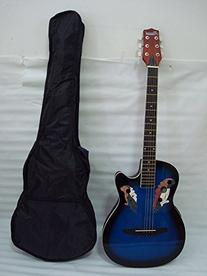 Ktone 6 String Acoustic Electric Guitar, Round Back, Oval