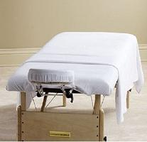 6 New White Massage Table Flat Draw Sheet Muslin T130 54x81