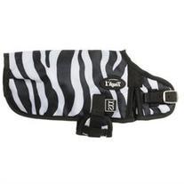 Tough-1 600D Zebra Prints Dog Blanket Large Black/White