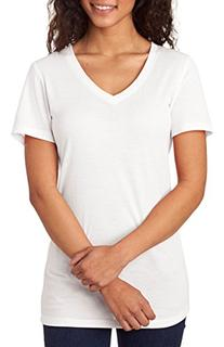 Next Level Apparel 6044 Ladies Poly & Cotton V-Neck Tee -