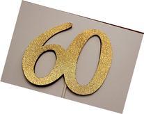 60th Birthday Cake topper - 60 Cake topper - 60th Birthday