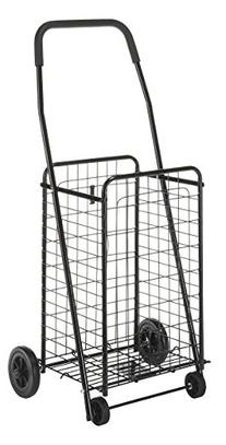 Whitmor 6307-1729-BLK Rolling Utility Cart, Black