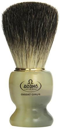 Omega 63171 Stripey 100% Pure Badger Shaving Brush with