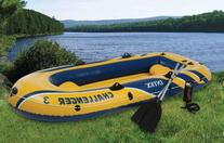 Intex Challenger 3 Inflatable Raft Boat Set With Pump And