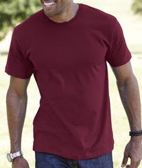 LAT 6901 Adult Fine Jersey T-Shirt - Maroon Extra Large