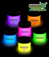 Glominex AH921 6pcs, 1oz, Glow in the Dark Body and Face