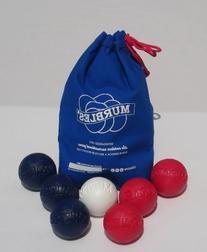 Standard 7 ball Lt Red & Dk Blue totable small family &