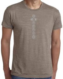 Yoga Clothing For You 7 Chakras Mens Burnout Tee Shirt,