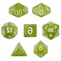 7 Die Polyhedral Dice Set - Serpent  with Velvet Pouch By