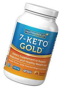 Nutrigold 7-Keto 100mg, 120 Vegetarian Capsules