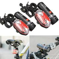 7 Modes Bike Bicycle Cycling Light Set Front 5 LED Head