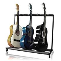 7 Multi Guitar Bass Folding Stand Stage 7 Holder Rack Guitar