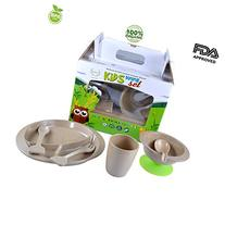 7 pieces Toddler Kids ORGANIC Dinnerware Including Divided