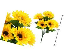 7-stem Sunflowers, Artificial Flower