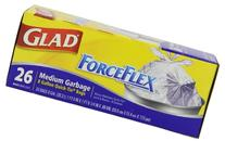 Glad 70403 Force Flex Medium Garbage Bag 8 Gallon 26 Count