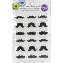 Wilton 710-0229 Mustache Icing Decorations, 18-Pack