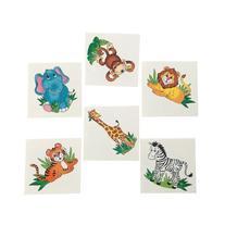 36 Zoo Animal Temporary Tattoos