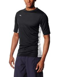 Speedo 7482202 Mens Longview Short Sleeve Swim Tee�, Black
