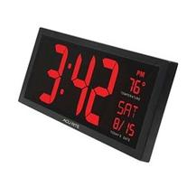 AcuRite 75127 Oversized LED Clock with Indoor Temperature,