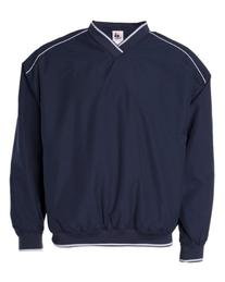 Badger Piped Microfiber Windshirt S Navy/ White