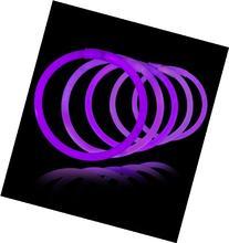 """8"""" Lumistick Glowsticks Glow Stick Bracelets Purple"""
