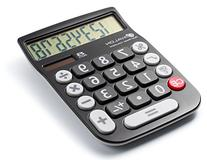 Office+Style 8 Digit Dual Powered Desktop Calculator, LCD