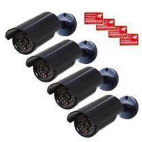VideoSecu 4 x Dummy Security Camera Fake Bullet Cameras