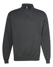 Jerzees 8 Ounce 50/50 Cadet Collar Sweatshirt, XL, Ash