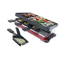 8 Person Classic Raclette Party Grill with Reversible Cast