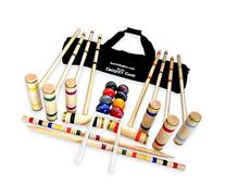 8-Player Deluxe Amish Crafted Croquet Game Set with Carry