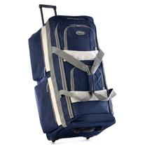 Olympia 33 Inch 8 Pocket Rolling Duffel, Navy, One Size