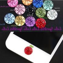 8 Rhinestone Bling Crystal Diamante home button stickers