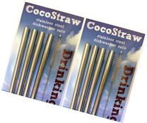 8 Stainless Steel Wide Smoothie Straws - CocoStraw Large