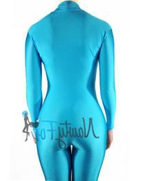 a0d057a276 NawtyFox TurquoiseMock Neck Long Sleeve Unitard Dancewear
