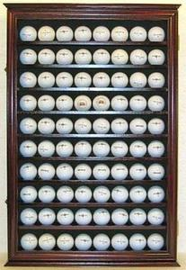 80 Novelty / Souvenir Golf Ball Display Case Holder Cabinet