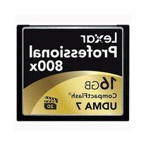 Lexar Professional 800x 16GB CompactFlash Memory Card 2-Pack