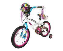 Dynacraft 8093-38ZTJ Girls Hello Kitty Bike, White/Pink/Blue