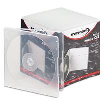 Innovera 81900 Slim CD Case, Clear, 25 per Pack